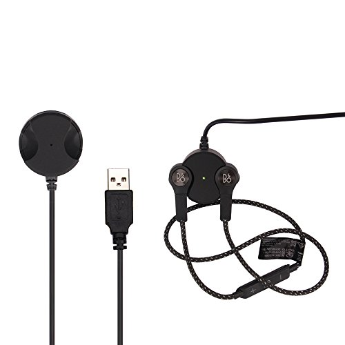 Meijunter Charging Dock Cradle Cable Charger Station for B&O PLAY by Bang & Olufsen Beoplay H5 Wireless Earbuds Earphones Headphones