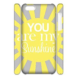 DIY iPhone 5C Case, Zyoux Custom Cheap 3D iPhone 5C Cell Phone Case - you are my sunshine