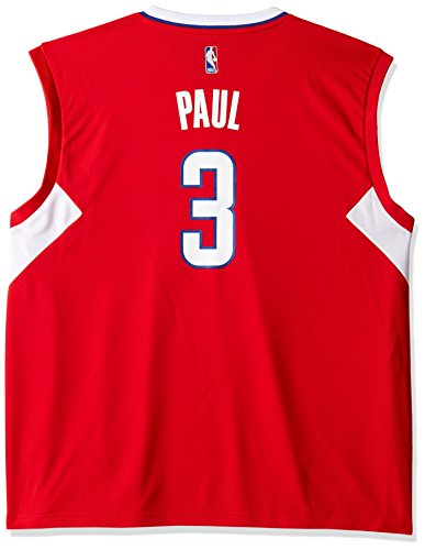 NBA Men's Los Angeles Clippers Chris Paul Replica Player Road Jersey, 4X-Large, Red ()