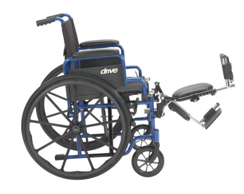 Drive Medical Blue Streak Wheelchair with Flip Back Desk Arms, Elevating Leg Rests, 20'' Seat by Drive Medical (Image #3)