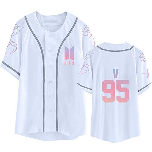 (Dolpind Kpop BTS Shirt Love Yourself Baseball Jersey Jimin Suga V Jung Kook T-Shirt)