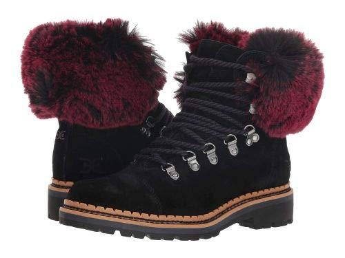 Sam Edelman(サムエデルマン) レディース 女性用 シューズ 靴 ブーツ レースアップブーツ Bowen - Black/Raspberry Wine Velutto Suede Leather/Opulent Fur [並行輸入品] B07HVQ4YNV 7 M