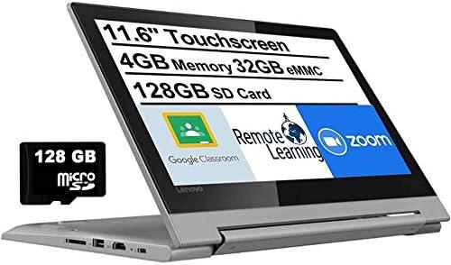 "2021 Newest Lenovo Flex 3 11.6"" HD Touchscreen 2-in-1 Chromebook Laptop, MediaTek MT8173C Quad-Core CPU, 4GB RAM, 160GB Space(32GB eMMC+AllyFlex 128GB MSD), Bluetooth, Webcam, HDMI, USB-C, Chrome OS"