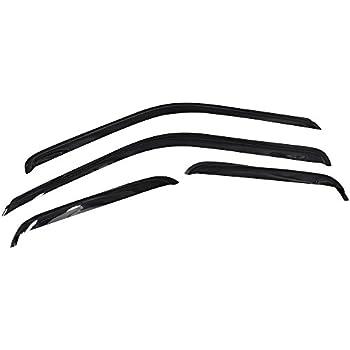 TuningPros LGWV-514 Out-Channel Window Visor Deflector Rain Guard Light Grey 4-pc Set