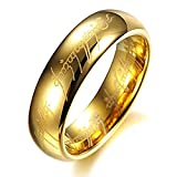 AMSENC The One Ring Lord The Rings Style Tungsten