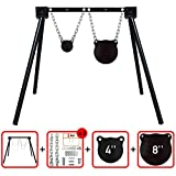 """Highwild AR500 Steel Shooting Target System (1 Stand, 2 Chain Sets & 4""""+8"""" Gongs)"""
