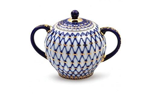 (Imperial / Lomonosov Porcelain Sugar Bowl 'Tulip', 15.2 fl oz)
