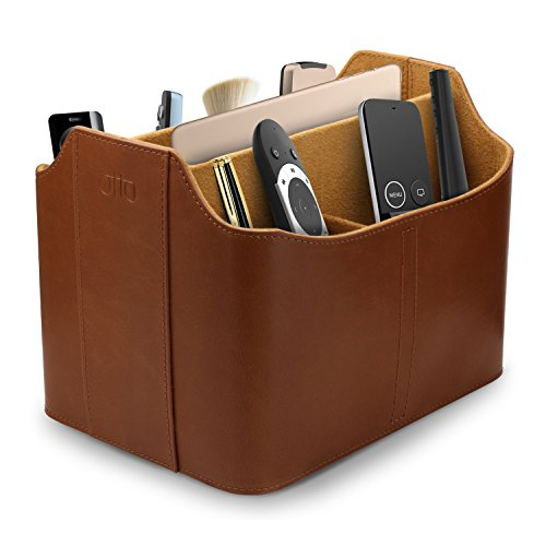OTTO Leather Remote Control Organizer and Caddy with Tablet Slot (OTTO172) from OTTO Leather