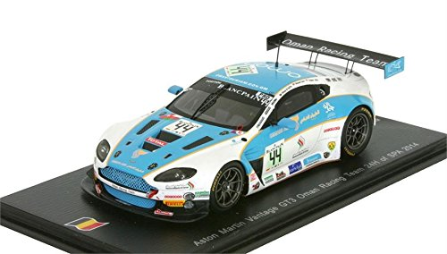 2014 Aston Martin Vantage GT3 n.44 24H SPA Model Car in 1:43 Scale by Spark