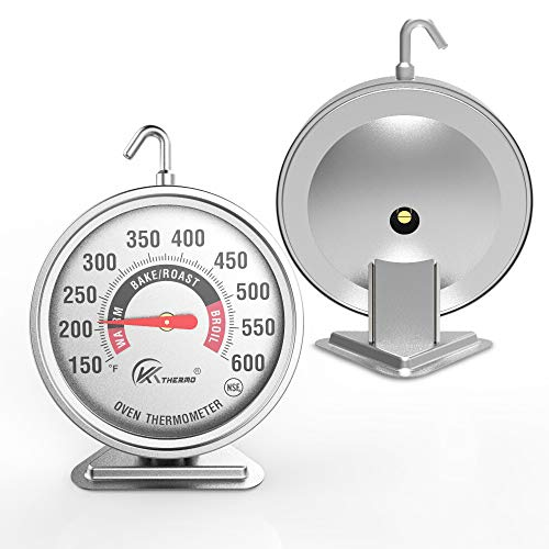 Large 3' dial oven thermometer - KT THERMO (2019 New Design) NSF-approved...