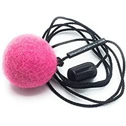 Ghent Craft Works Designer Cat Toy Wand Attachment with 100% Wool Felt Ball. M1 Red Dot Revenge Red Felt Ball Cat Toy Attachments (Sassy Pink) …