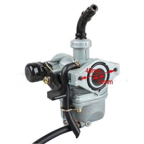 X-PRO 19mm Zinc Carburetor w/Hand Choke Lever for 50cc 70cc 90cc 110cc 4-stroke ATV Carb Dirt Bike Go Kart Quad 4 Wheeler Pit ()