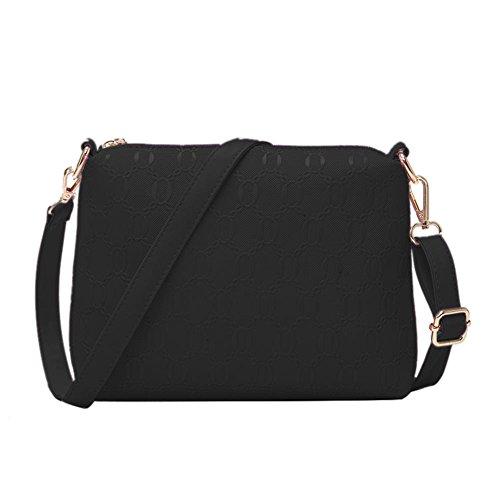 4 PU Black Luxury Widewing Bags Handbags Shoulder Leather Pieces Messenger Crossbody Set B5qqPYw
