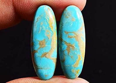 Smooth Handmade Natural Arizona Cabochon jewelry Loose gemstone #AB1759 8x10mm Natural Arizona Turquoise Cabochon Gemstone 9 pcs of 18Cts