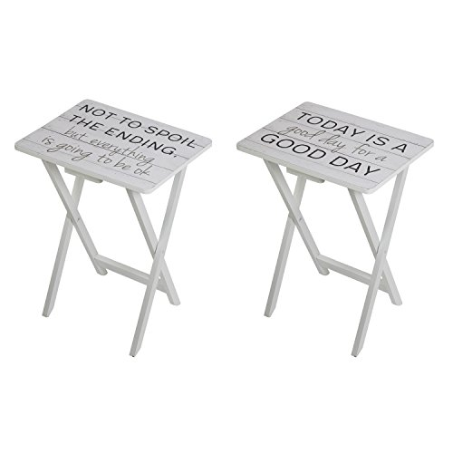 Cape Craftsmen At Ease Traditional Folding Wooden TV Tray Tables, Set of 2 by Cape Craftsmen