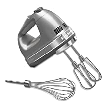 KitchenAid KHM7210CU 7-Speed Hand Mixer, Contour Silver