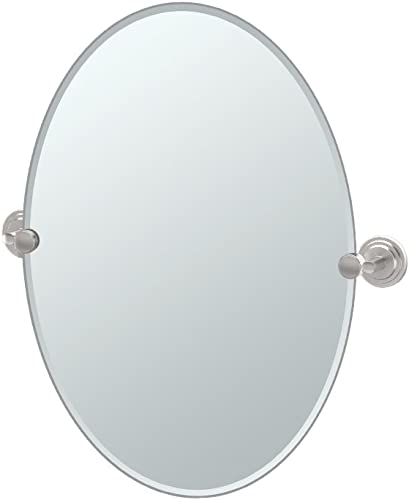 Gatco 5859 Marina Oval Wall Mirror, Satin Nickel