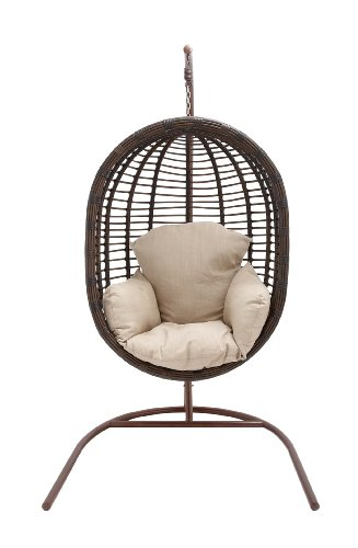 Benzara The Lovely Metal Rattan Swing For Sale