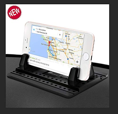 Car Phone Holder, Vansky Car Phone Mount Silicone Dashboard Car Pad Mat for iPhone X/8 Plus/7 Plus/6/6S Plus, Samsung Galaxy S8 Plus/Note 8/S7 3.5-7 inch Smartphone or GPS Devices (Best Smartphone 4 Inch Screen)