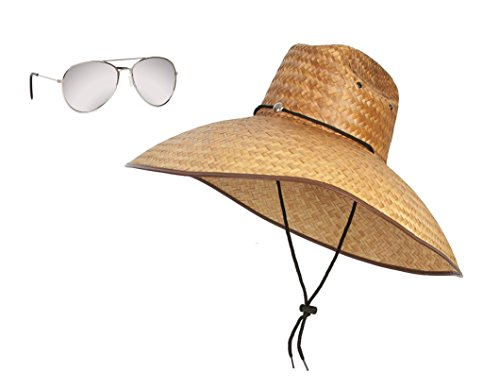[The Eye Wandering Life Guard Set, Sunglass and Sun Boat Hat] (Bay Watch Costumes)