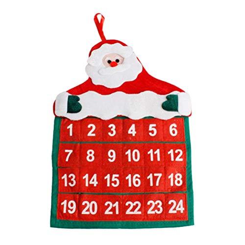 LQT Ltd Advent Calendars Christmas Decorations Santa Claus Calendar Hotel Lobby Family Pendant U70928