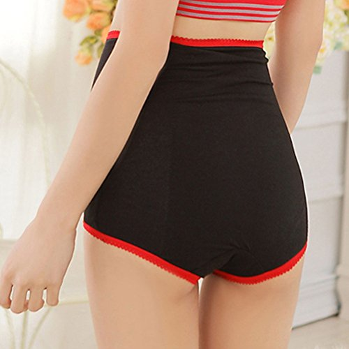 Zhhlaixing Alta calidad Special Underwear Prevent Leakage High Waist Pants High-grade Lace Double-Layer Health Pants Black