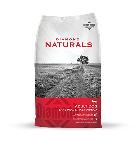 Diamond Naturals ADULT Real Meat Recipe Natural Dry Dog Food with Real Pasture Raised Lamb Protein 40lb