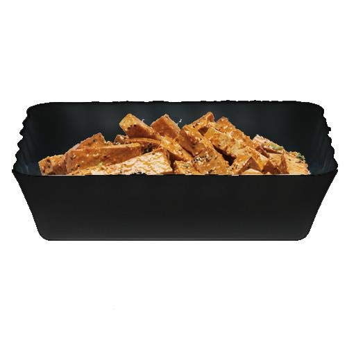 Cambro SFR1012110 ShowFest Black 4.5 Qt Scalloped Edge Bowl - 6 / CS