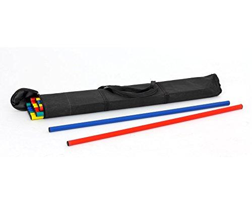 Set mit 20 Rhythmikstäben in Tasche - Gymnastikübungen, Balance Koordinationsübungen Bewegungsparcours Spiele drinnen und draußen Gymnastikstäbe
