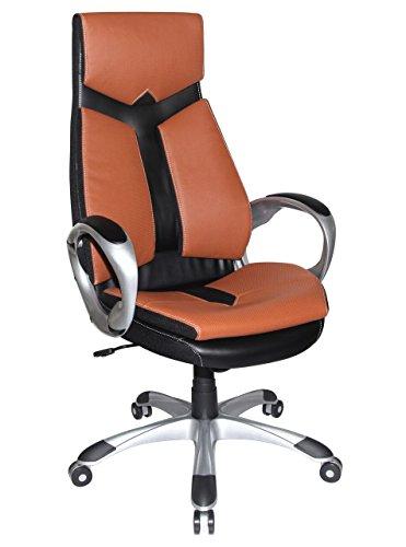 41yUT8Gm30L - Boraam 97918 Jacob Adjustable Modern Office Chair, Sienna & Black, One Size