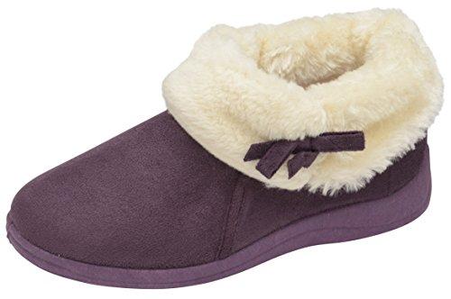 mujer morado cuello piel tobillo botas Bessie sintética Para Dunlop UB5xwq7w