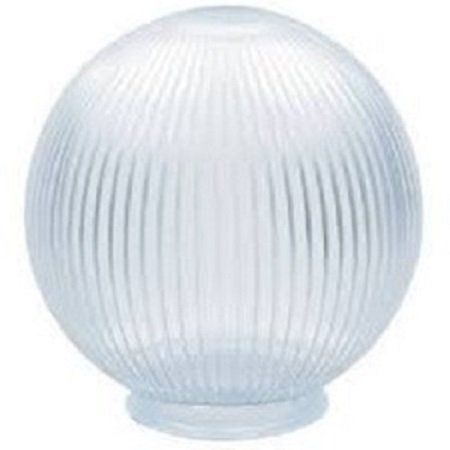 Clear Acrylic Prismatic 8 Inch Lamp Post Globe with 3.91 Inch Neck