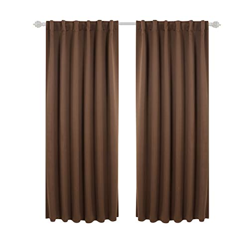 Deconovo Back Tab and Rod Pocket Blackout Curtains Thermal I