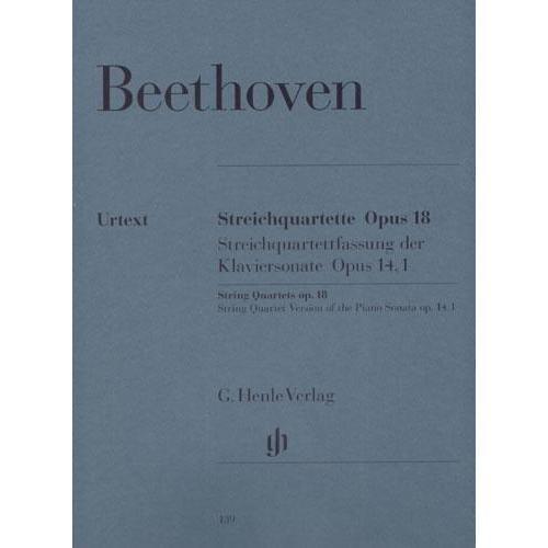 Beethoven, Ludwig - 6 String Quartets Op. 18 for Two Violins, Viola and Cello - Henle Verlag URTEXT