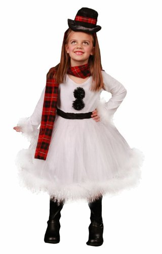 Frosty Snow Girl Costume (Big Girls' Shelby The Snowman Costume Small (5-6))