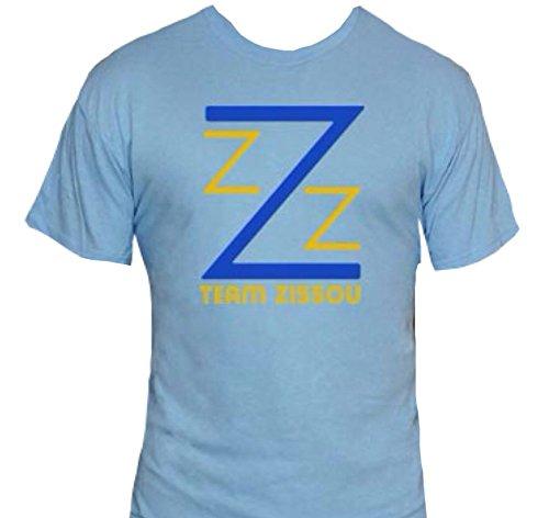 Team Zissou T-Shirt-Funny Humorous Novelty Shirt-XXL-Light Blue