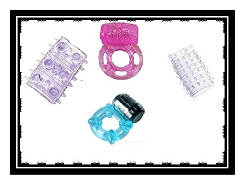 Bare Necessities 4 penis ring with one vibrating cock ring set