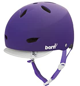 BERN Brighton Summer EPS Matte Helmet with Visor (Purple, Large)