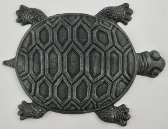 (Iron Verdigris Garden Turtle Stepping Stone)