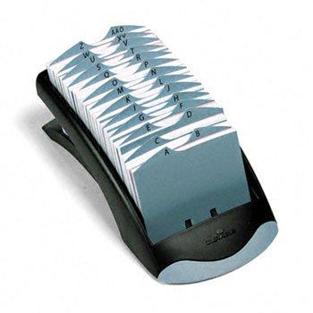 (Durable® TELINDEX® Desk Address Card File FILE,ADSCRD,OPN,GPH/BK 39V1921 (Pack of3))