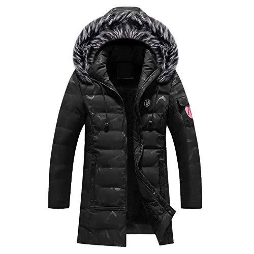 iHPH7 Men Winter Camouflage Warm Jacket Overcoat Slim