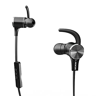 Bluetooth Earbuds, Liger MH770 High Quality Wireless Stereo Bluetooth 4.1 Sport Headphone with Magnetic Tips, In-Ear Noise Cancelling and Sweat Proof Earphones, Hands Free Calling and Mic