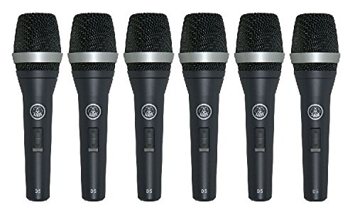 Price comparison product image AKG D5 S 6 Pieces Package Supercardioid Dynamic Vocal Microphones with On / Off Switch