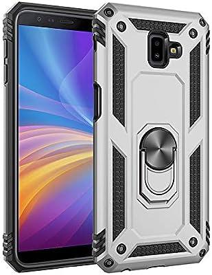 BestST Funda para Samsung Galaxy J6 Plus /J6 Prime/J610,Elegante Armadura híbrida Robusta Funda de Doble Capa de Alta Resistencia para PC Duro Caso con Anillo Grip Kickstand, HD Protector de Pantalla: Amazon.es:
