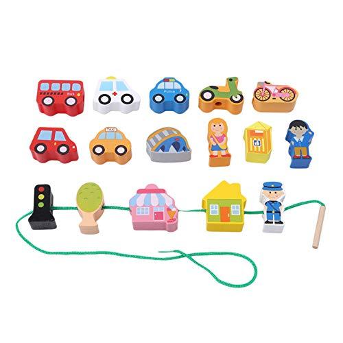 VT BigHome Wooden For Kids Animals Fram Car Stringing Game Blocks Cartoon Education Toy For Baby Boy Girl Kids Children