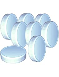 """Wide-Mouth Reusable Plastic Lids for Canning Jars, 8 Count, Mainstays (3.62"""" dia x .75"""" H)"""