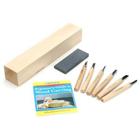 Wood Carvers Starter Kit -8pcs (Carve Wood)