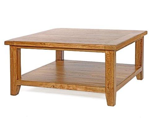 Neo rechteckiger Couchtisch mit 1 Ablage Massivholz Möbel Eiche rustikal