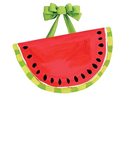 Studio M Outdoor-Safe Front Door Décor, 19.25 x 11.25-Inches, Whimsical Watermelon