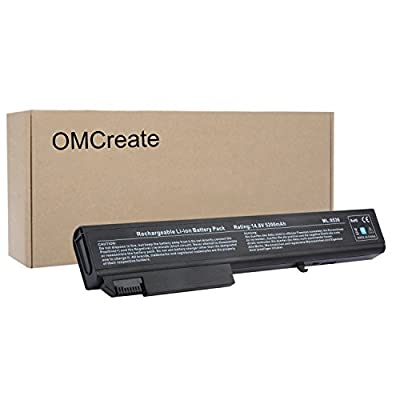OMCreate Battery for HP EliteBook 8530P 8540P 8530W 8540W 8730W 8740W / HP ProBook 6545B, fits P/N KU533AA 493976-001 - 12 Months Warranty [Li-ion 8-Cell] by Misimisite